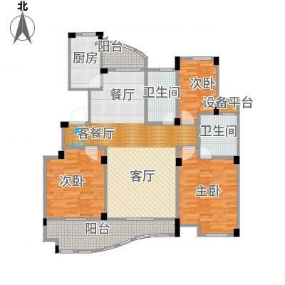 丁香花园139.04㎡1号楼05户型3室1厅2卫1厨-副本