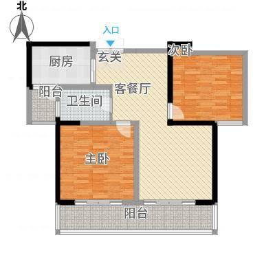 胜利华庭115.00㎡3#楼A-1户型2室2厅1卫1厨-副本