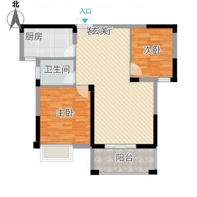 格林公馆2G3户型2室2厅1卫1厨-副本
