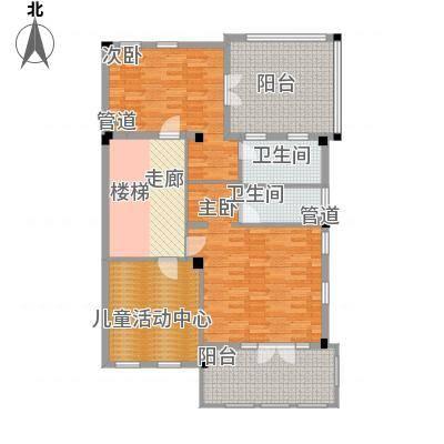 绿城慈溪玫瑰园115.00㎡排屋边套面积11500m户型-副本