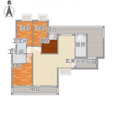 新鹰国际14.30㎡A-1户型4室2厅2卫1厨-副本