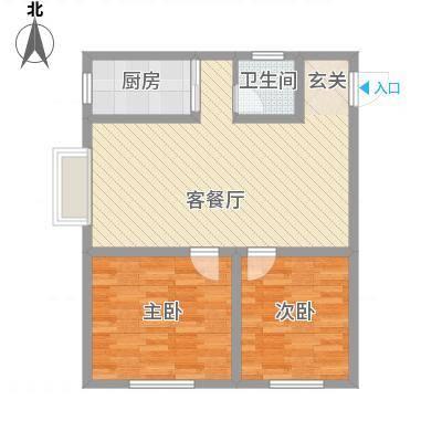 泰和园88.50㎡H户型2室2厅1卫1厨-副本