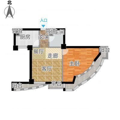航天星苑58.33㎡房型户型-副本