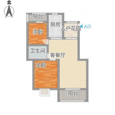 丽景花园92.53㎡丽景花园户型图标准层A户型2室2厅1卫1厨户型2室2厅1卫1厨-副本