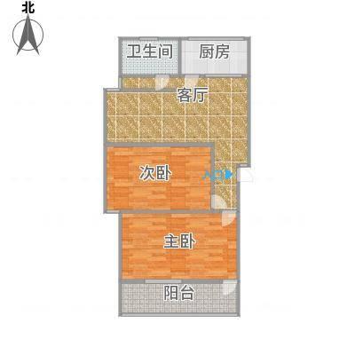 两室一厅,66平方