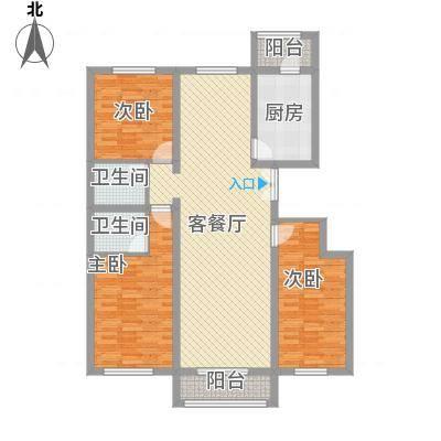 玺园143.19㎡玺园户型图H户型3室2厅2卫1厨户型3室2厅2卫1厨-副本