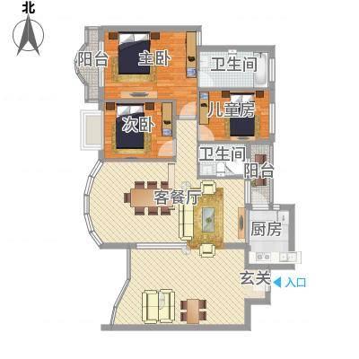 红荔花园130.00㎡红荔花园3室户型3室-副本