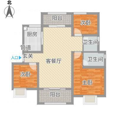 淮海青年城一期11#12#楼标准层边套户型-副本