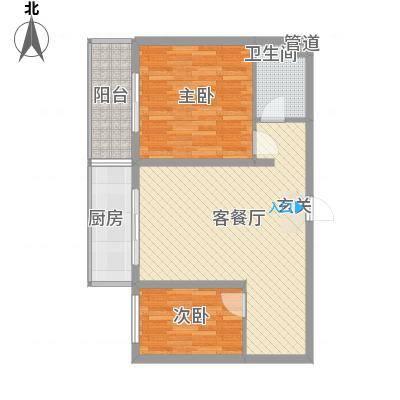 阳光庄园81.00㎡E户型2室2厅1卫1厨-副本