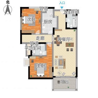 上海康城三期 2室 户型图-副本