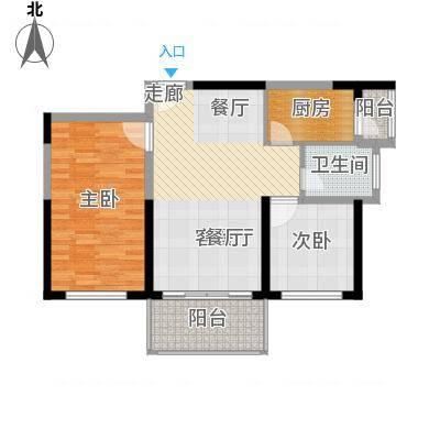 74.18㎡02户型2室1厅1卫1厨-副本