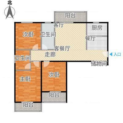 汉武国际城128.00㎡E户型 3室2厅2卫户型3室2厅2卫-副本