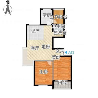江阴外滩名门115.00㎡江阴外滩名门户型图Q户型(8#楼)2室2厅1卫1厨户型2室2厅1卫1厨-副
