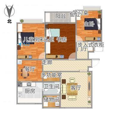 13-C户型117平三室一厅-副本