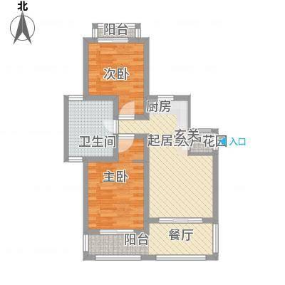 顺泽福湾90.67㎡顺泽福湾户型图J户型2室2厅1卫1厨户型2室2厅1卫1厨-副本