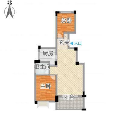 中铁滨江名邸85.00㎡G2-H2户型2室2厅1卫1厨-副本