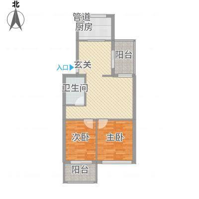绿杨新苑82.00㎡户型2室-副本