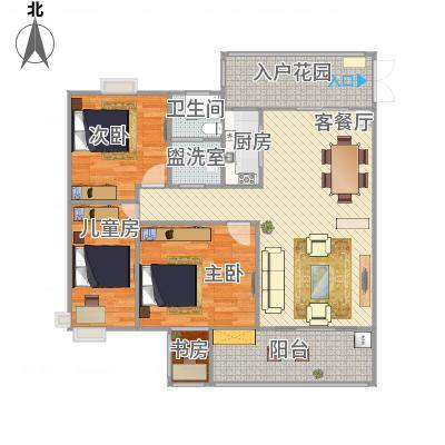 合肥_水安盛世桃源_118m^2房型修改图1