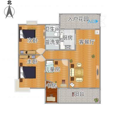 合肥_水安盛世桃源_118m^2房型修改图2