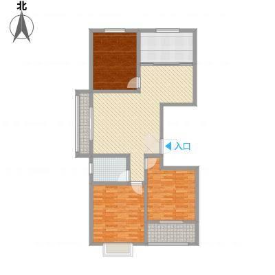 荔水湾127.00㎡高层9号楼A户型3室2厅1卫1厨-副本