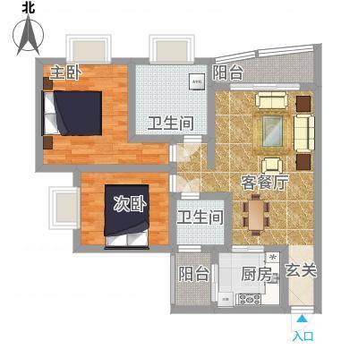 奥运花园89.96㎡奥运花园户型图3室2厅2卫1厨户型10室-副本