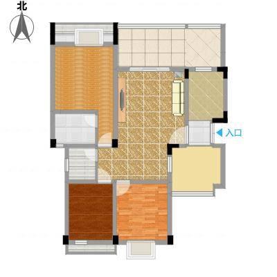 海宇学府江山一期7-21号楼B5户型2室2厅双卫-副本-副本