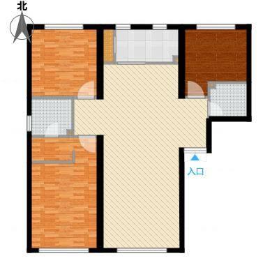 水木兰亭三期160.00㎡户型3室2厅