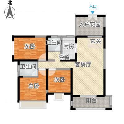 振业泊墅128.00㎡7#、8#、9#楼C3面积12800m户型-副本