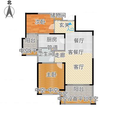 天津碧桂园90.00㎡J82 B1户型2室2厅1卫-副本