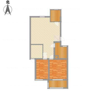 一品名郡15.81㎡三期2#楼中户C户型3室2厅1卫1厨-副本