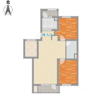 听雨观澜88.00㎡听雨观澜户型图4B户型标准层2室2厅1卫1厨户型2室2厅1卫1厨-副本