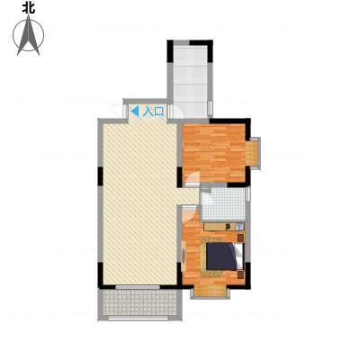 泛华盛世二期13.56㎡户型2室2厅1卫1厨-副本
