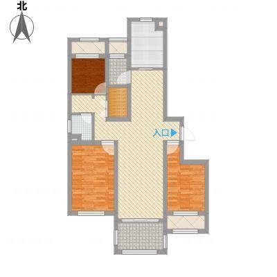 龙馨家园121.00㎡9#D1户型3室2厅1卫-副本