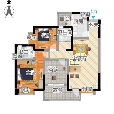 明源国际三期28.51㎡K2户型2室2厅2卫1厨-副本