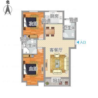 两室两厅两卫——两房朝南(联丰北区)