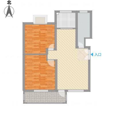 齐云雅苑5.00㎡A2户型2室2厅1卫1厨-副本