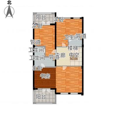绿城慈溪玫瑰园131.00㎡排屋边套面积13100m户型-副本