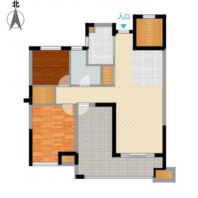 盛世豪庭97.65㎡三期B面积9765m户型-副本