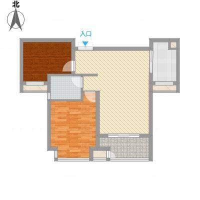 新惠家园90.00㎡2室户型2室1厅1卫1厨-副本