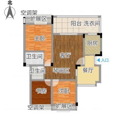 学府B5户型2室2厅双卫