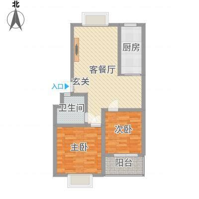 怡景华庭88.20㎡21/22#A户型2室2厅1卫1厨-副本