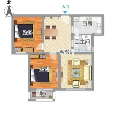两室两厅一卫—两房朝南(宁东家园)