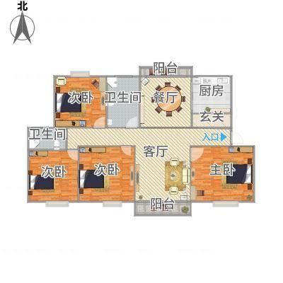 上海_新舒苑164平——设计方案