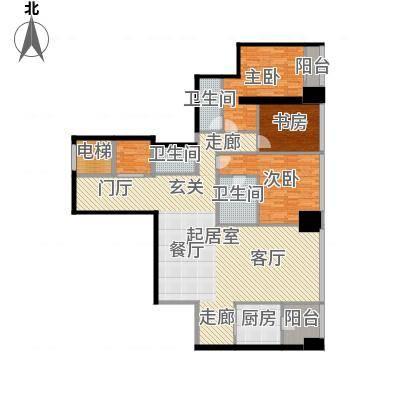 融创玖玺台177.00㎡一期2号楼标准层G户型-副本