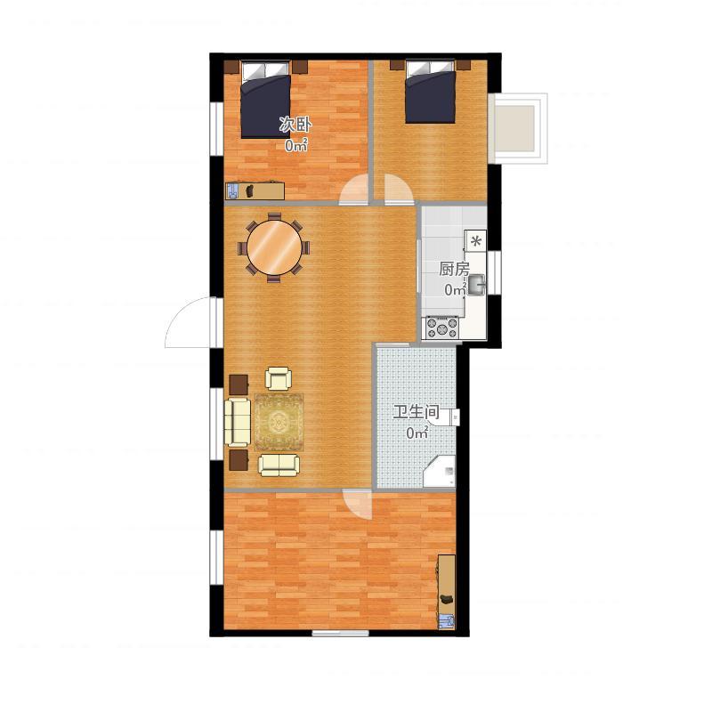 设计图分享 长方形农村房屋设计