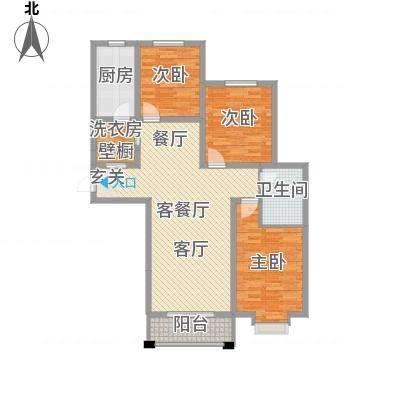 汇通新城2313.20㎡2#D户型3室2厅1卫1厨-副本