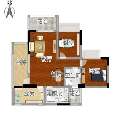 广州花都雅居乐花园103㎡3室1厅1厨1卫