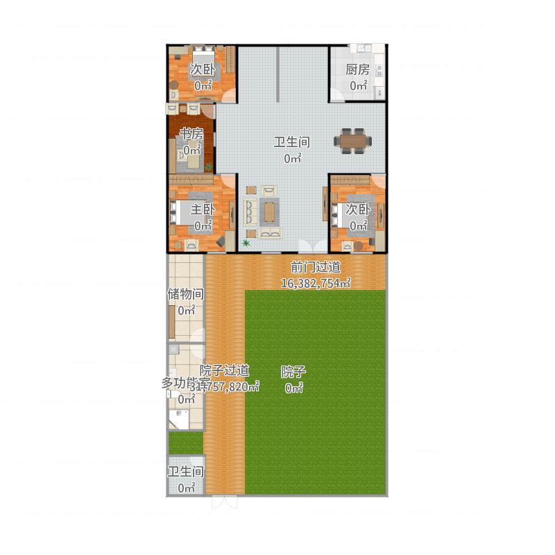 天津 农村平房设计图-副本-副本 户型图图片
