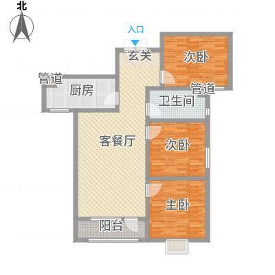 龙门印象城B户型3室2厅1卫1厨-副本