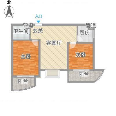 绿地世纪城・塞纳印象101.13㎡绿地世纪城・塞纳印象户型图B4户型2室2厅1卫1厨户型2室2厅1卫